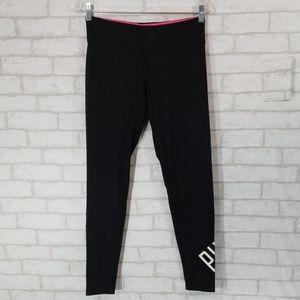 Pink black leggings size Small